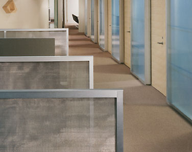 Custom mesh workspace divider screens
